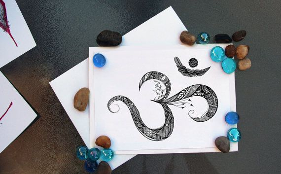 9 best yoga greeting card ideas images on pinterest card ideas mounted greeting card om 5x7 from original ink drawing with detachable art print and handmade white envelope home decor yoga studio decor m4hsunfo