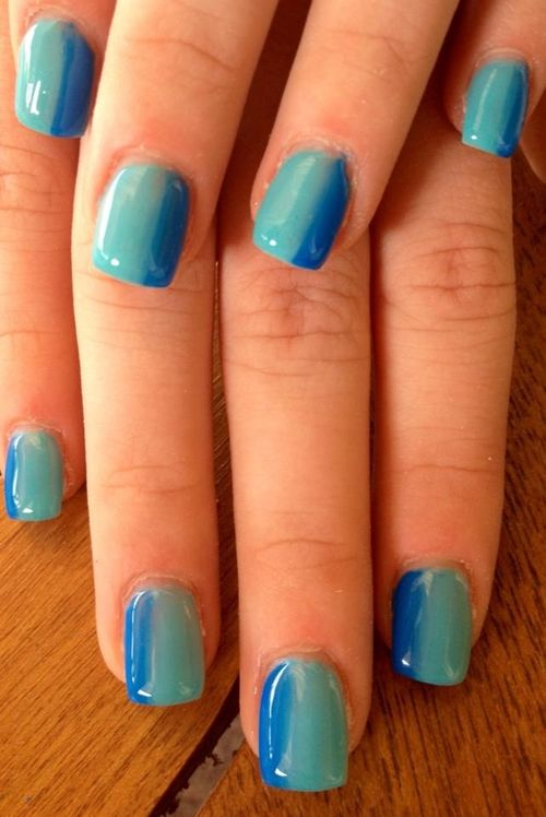 Mix colour french nails nails blue nail french pretty nails nail art nail  ideas nail designs - 59 Best Nail Designs Images On Pinterest Make Up, Summer Nails