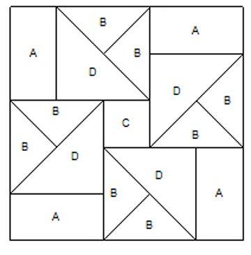 Moldes de triángulos para armar un patchwork