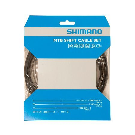 Shimano MTB Gear Cable Set with Stainless Steel Features: Fitting new gears or completely overhauling your gear cabling couldnt be easier - everything you need in one pack. Stainless steel precision ground round inner wire leaves a smooth surface f http://www.MightGet.com/january-2017-11/shimano-mtb-gear-cable-set-with-stainless-steel.asp