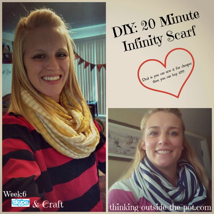 DIY: 20 Minute Infinity Scarf - I'd only make one change....I'd sew the ends together, then sew the long sides together, leaving a gap so I could turn it and then blind stitch it. That's just me though....I don't like raw edges! SJK