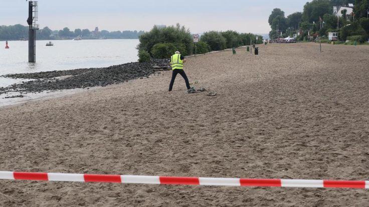 Der Strandabschnitt kurz vor der Strandperle bis nach Teufelsbrück ist noch gesperrt
