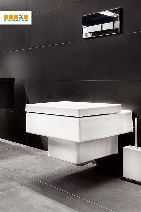 Turbo Schwarze #Wandfliesen, #graue #Bodenfliesen und #weiße #Keramik QI42