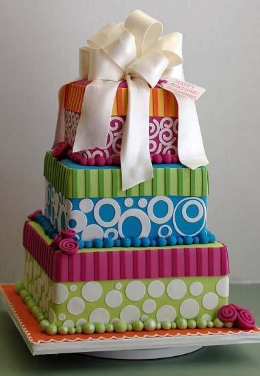 62 best gift box cakes images on pinterest gift box cakes boxed fun gift box cake negle Images