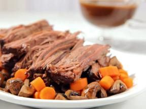 Photo of this Recipe. Slow Cooker Brisket with Brown Gravy