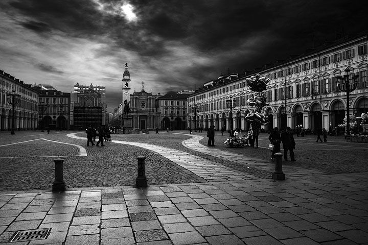 Piazza San Carlo, Torino, Italia.