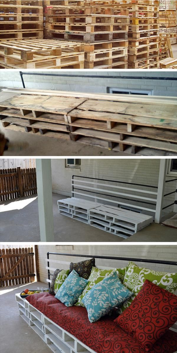 Recycled Pallet Patio Furniture | DIY and Crafts