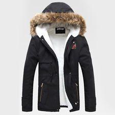 Manteau homme hiver capuche fourrure