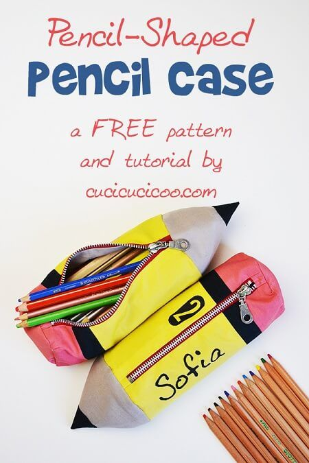 Back to school is fun with this Free Pencil Shaped Pencil Case Pattern It's 3-D, so it fits lots of school materials. Grab it today!