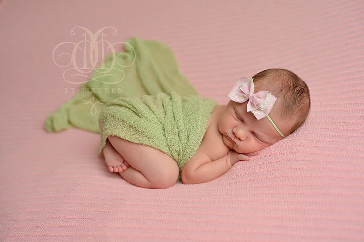 Celery Green Stretch Knit Baby Wrap | Beautiful Photo Props