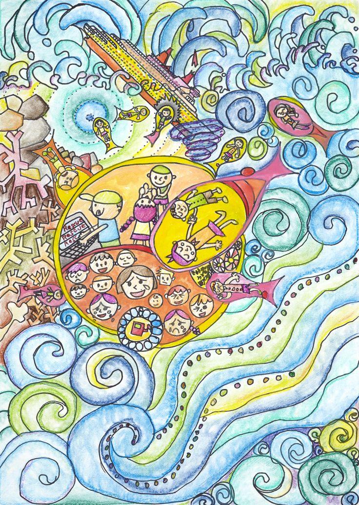 Rescue Sea Car - Reina Yamashiro | Toyota Dream Car Art Contest
