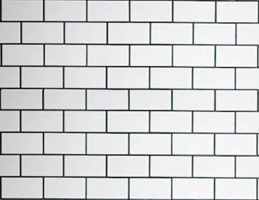 White Subway Tile With Black Grout On Walls