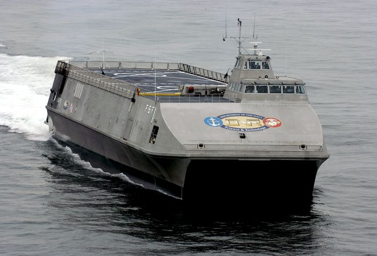 "The Sea Fighter is an aluminum catamaran designed to operate effectively in littoral, or coastal, waters. It can maneuver in as little as 11 feet (3.35 m) of water. The hull number FSF-1 stands for ""fast sea frame"" and is the first U.S. Naval vessel to have a catamaran design. The experimental vessel will be used to test the hydrodynamic performance, structural performance, structural behavior, mission flexibility and propulsion-system efficiency of high-speed vessels."