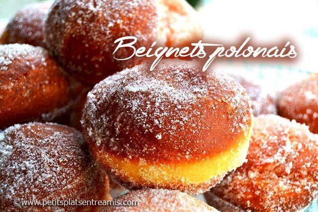 Ces délicieux beignets polonais se nomment en réalité Paczki et se prononcent Ponchki. Ils se dégustent traditionnellement à la fête du Jeudi Gras (marquant le début du Carême) en Pologne. Ils font…