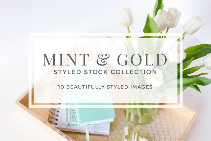 Mint & Gold Styled Stock by Pixels & Design on @creativemarket