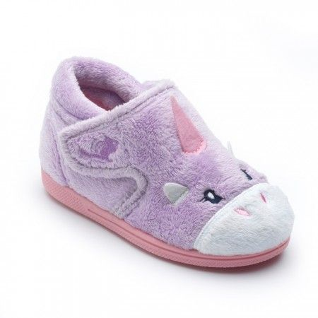 Chipmunks Unicorn Lilac Slippers
