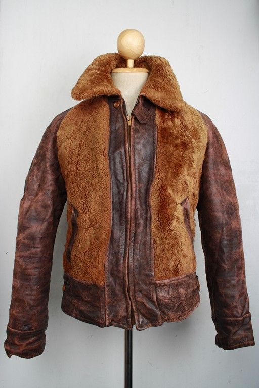 Stunning Vtg 1930s GRIZZLY Leather HORSEHIDE Motorcycle ...