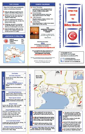 Bitez Quick Reference Travel Guide. Includes a local street map, Top 5 recommendations from other visitors, as well as activities and sights in the local area. This town is on the southern coastline of the Bodrum Peninsula Turkey.