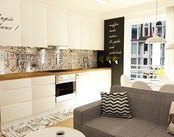 salon z kuchnią - zdjęcie od Grafika i Projekt