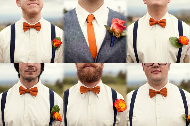 I want the groom to wear a bow tie (so we can have pics made with it untied, and laying around his neck) and the groomsmen to wear a tie