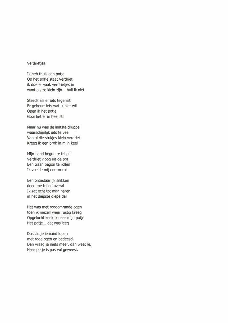 verdrietjes- gedicht van Arinka Linders
