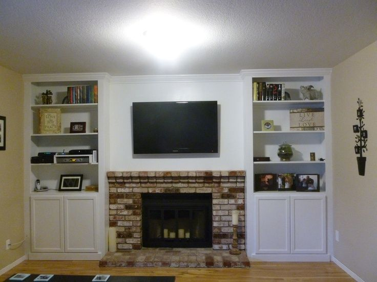 32 best images about bookcase around fireplace on pinterest for Bookcases next to fireplace