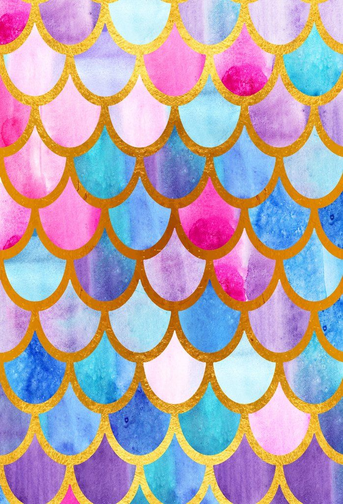 Colorful Mermaid Fish Scales Backdrop For Children S Birthday