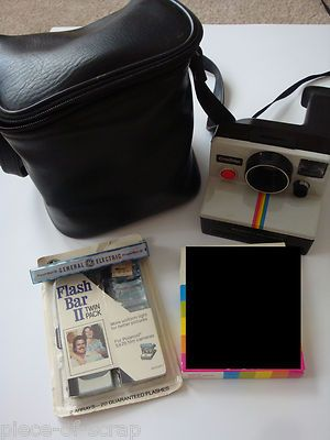 Polaroid SX-70 One Step Land Camera w/ Flash Light Arrays & Carrying Case SX 70 #Polaroid #Camera #Vintage #eBay