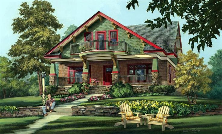 Bungalow Country Craftsman House Plan 86346 Elevation