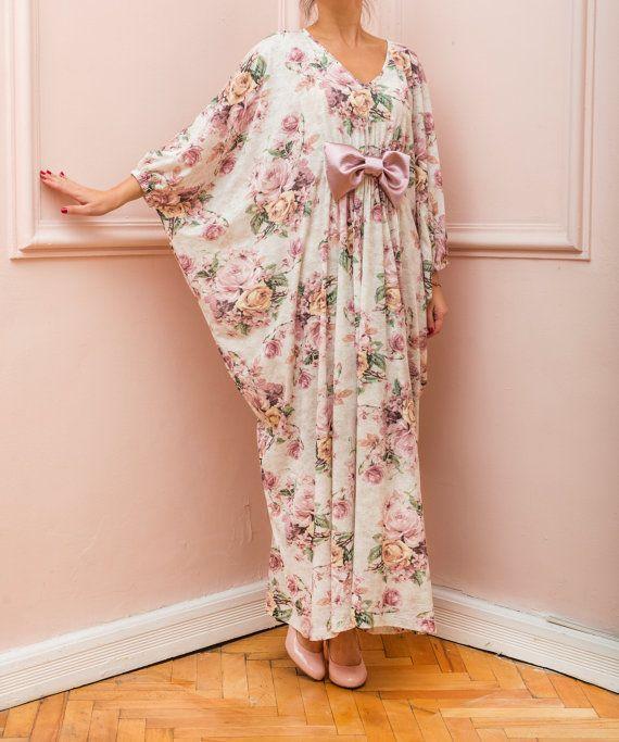 New SS16 Floral Maxi dress Plus size dress by cherryblossomsdress