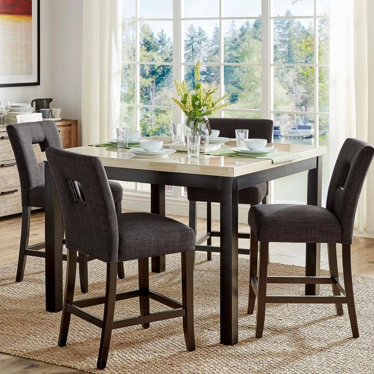 Sorrento 5-Piece Counter Height Dining Set in