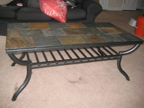 Perfect Slate Tile Coffee Table For Sale For 125