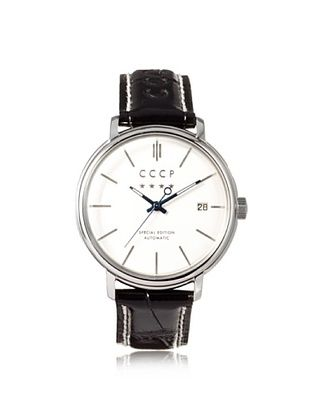 75% OFF CCCP Men's 7019-02 Heritage Black/Silver White Stainless Steel Watch