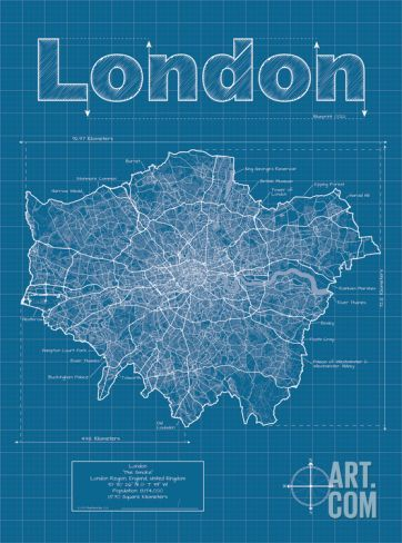 96 best graphic city maps images on pinterest city maps art london artistic blueprint map malvernweather Choice Image