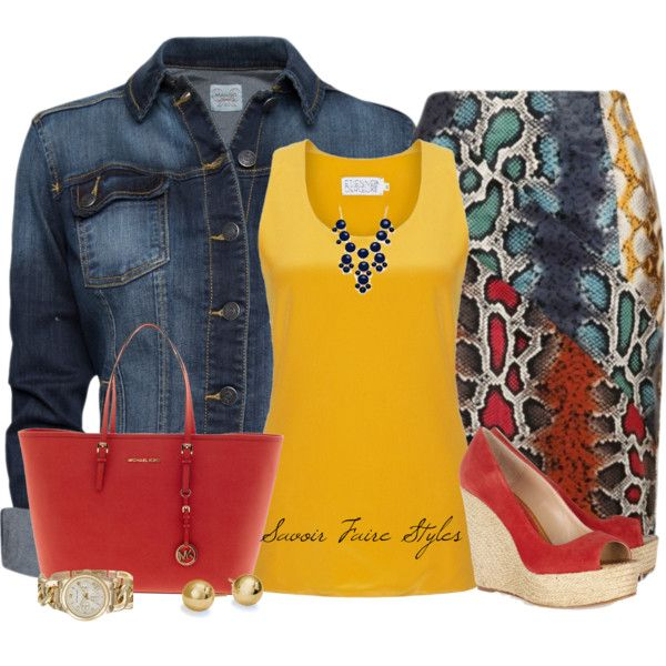 Yellow, Red, Navy Combo by tara-akiri on Polyvore featuring Etienne Deroeux, MANGO, Lavish Alice, Paloma Barceló, MICHAEL Michael Kors and Blue Nile