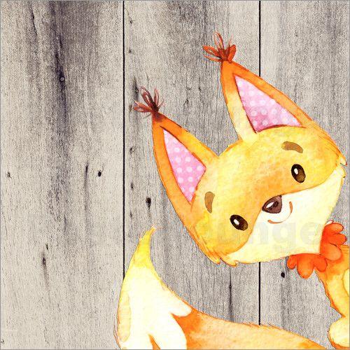 Poster 4 Freunde- Waldtiere – Fuchs – Jamy Twist