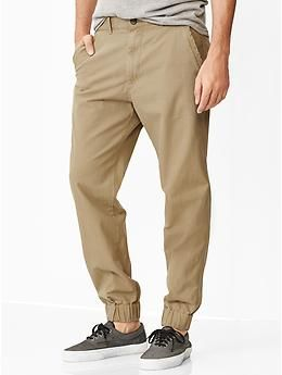 Gap Twill jogger pants. OKAY FINE, I'll get on board with the. Gap MenJogger  ...
