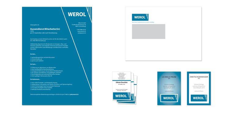 Printmedien der Werol GmbH --- #printmedien #visitenkarte #inserat #briefschaft #geschäftsdrucksachen #kreativ #grafikloft