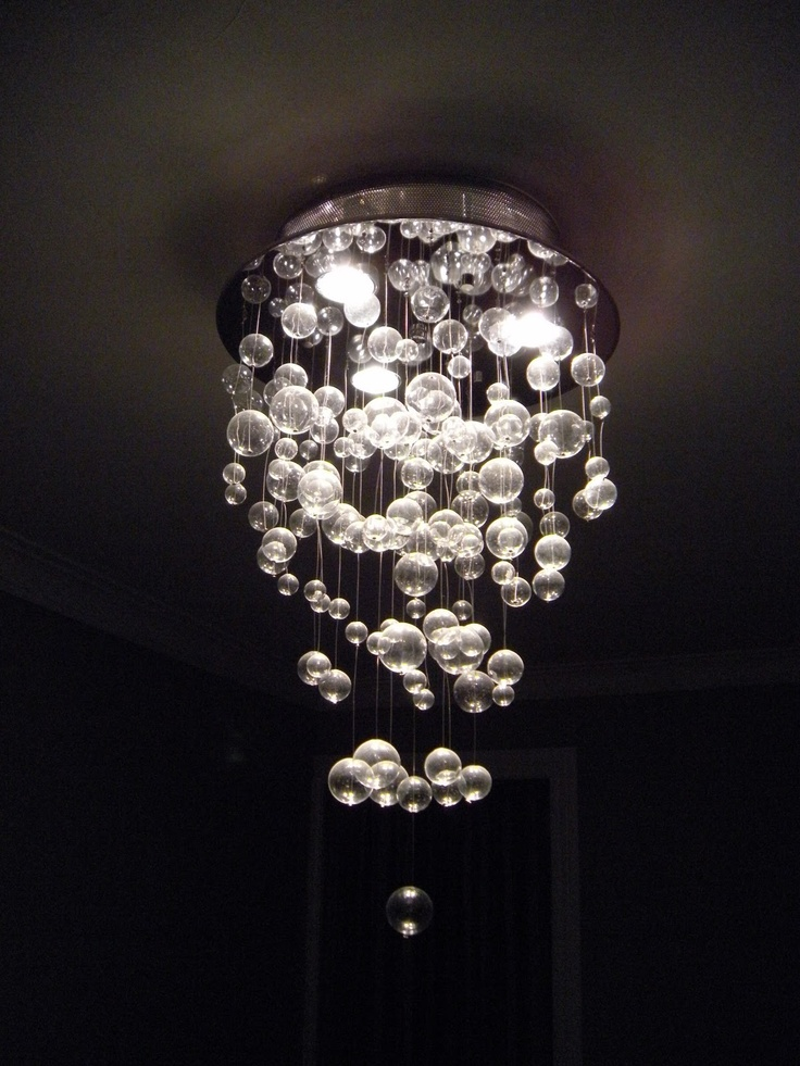 I SOOO want a bubble chandelier over my bathtub!!!