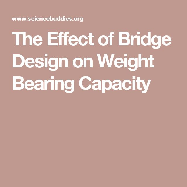 The Effect of Bridge Design on Weight Bearing Capacity