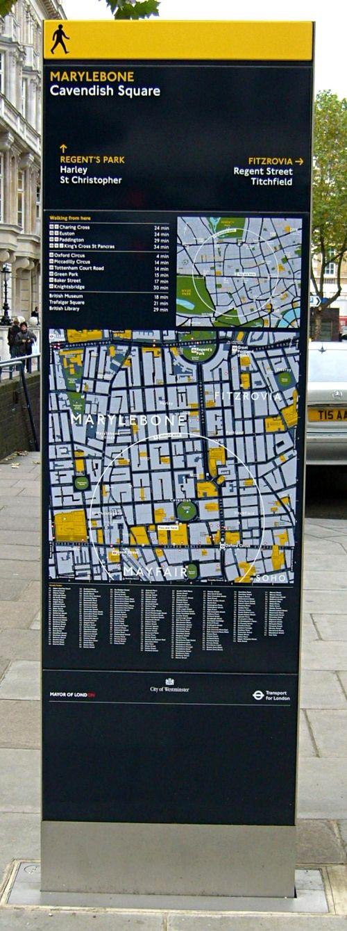 Image: Legible London Monolith: London Way Finding Scheme