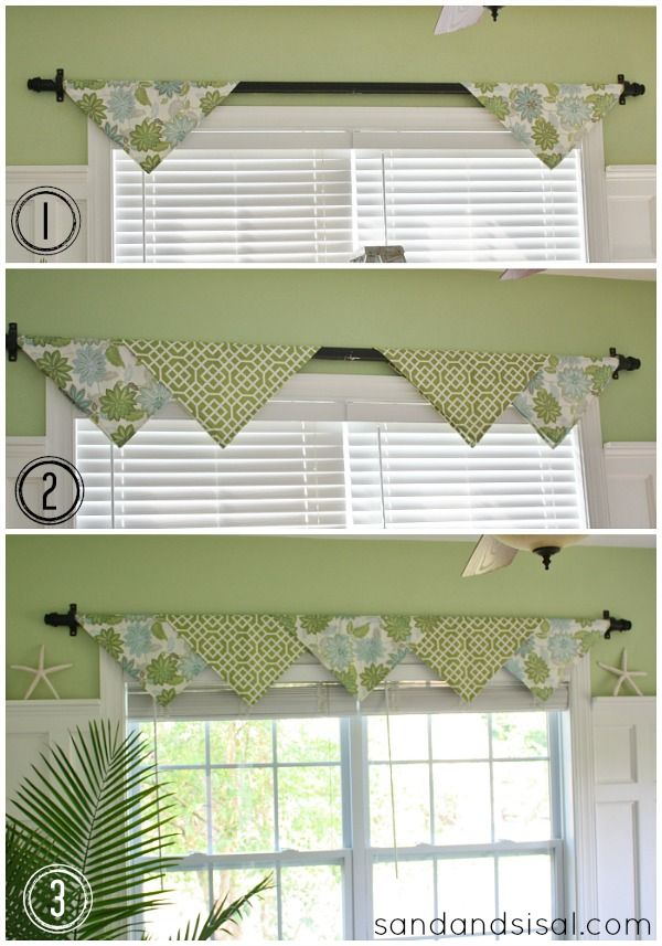 Best 25 valance ideas ideas on pinterest no sew valance for Simple window treatments for large windows