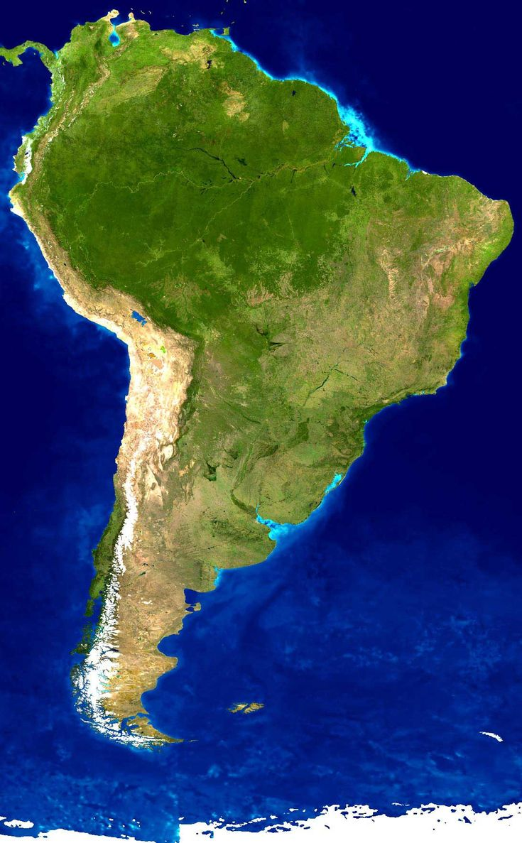 Map Of South America%0A Latin America satellite map