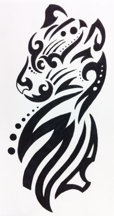 Tribal panther tattoo google search tattoos pinterest