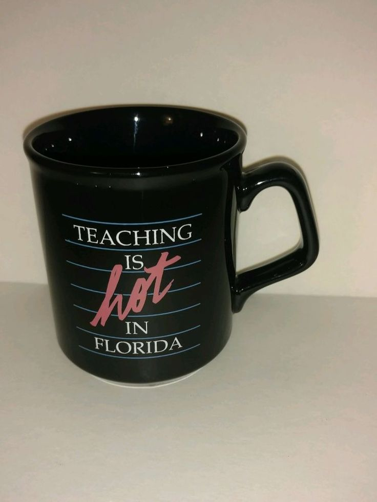 Teaching is Hot in Florida Collectible Coffee Mug Made in England