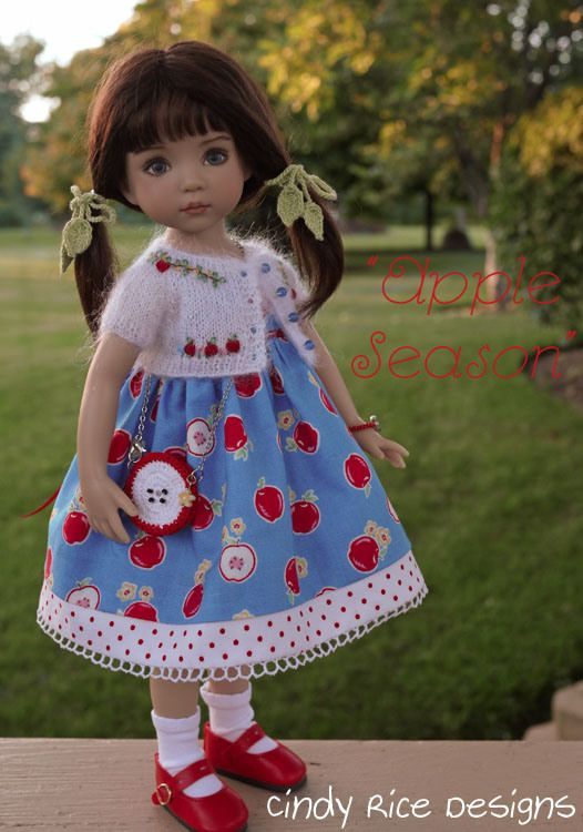 """Apple Season"", made for Dianna Effner's Little Darling dolls, cindyricedesigns.com .:"