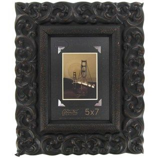 hobby lobby green tree gallery 5 x 7 black brown mdf wide profile picture frame