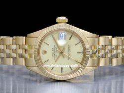 Rolex - Datejust Lady 6917 Cassa: oro giallo - 26 mm Ghiera: oro giallo Vetro: vetroplastica Colore quadrante: champagne Bracciale: jubilee Movimento: automatico