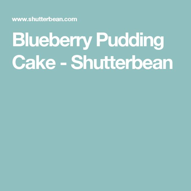Blueberry Pudding Cake - Shutterbean