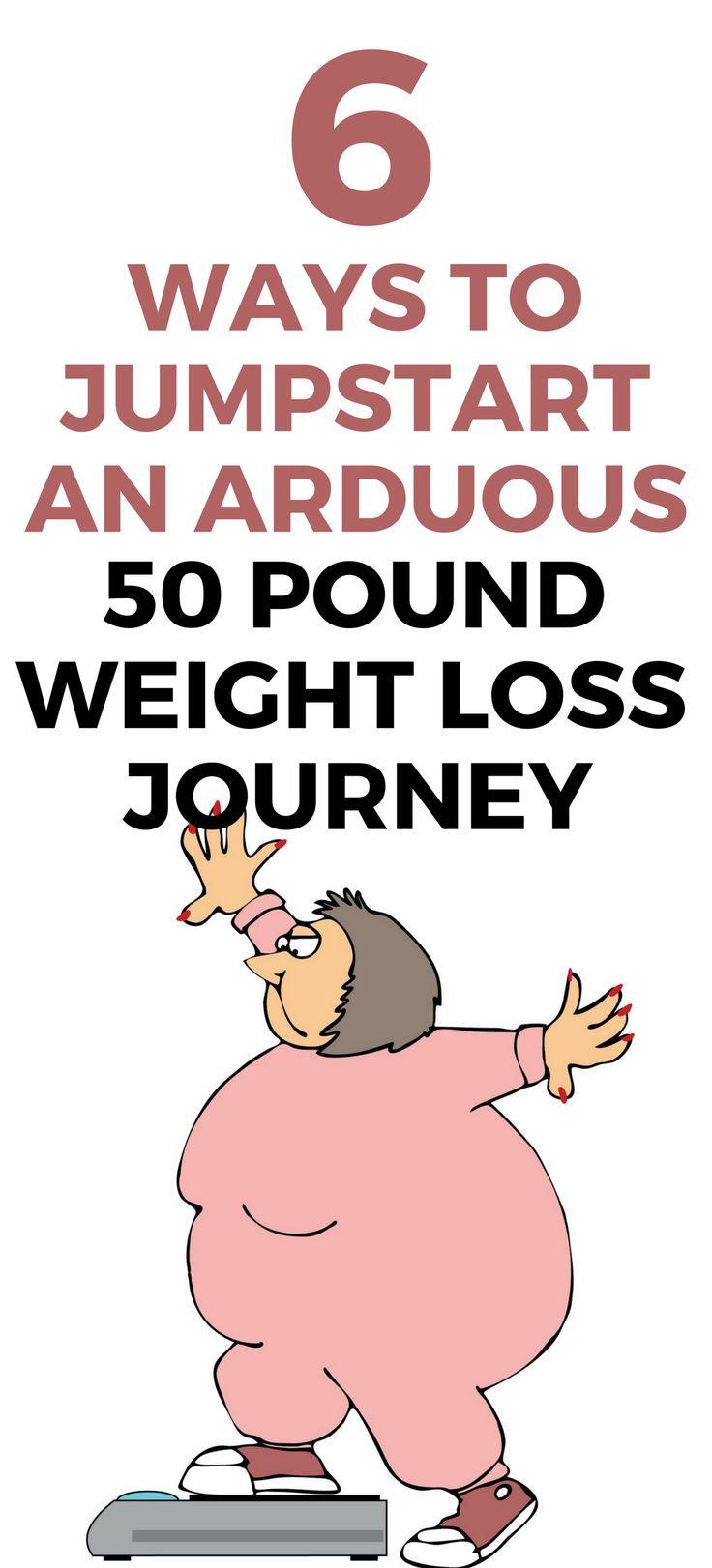 6 ways to jumpstart a 50 pound weight loss journey.